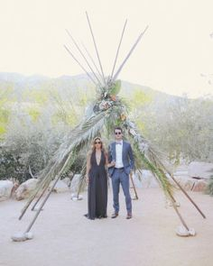 I know I am never going to get married under a teepee given the venue.  But, I just love the look of this couple.  Maybe for a vow renewal in Palm Springs....