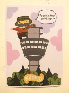Terveiset Kuopiosta! -postikortti, Puijon torni   Mailandia
