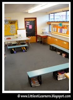 I wonder if I could make those seats for my whole class instead of chairs??? No more leaning back in their seats...