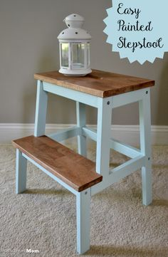 Indian Home Decor, Easy Home Decor, Cheap Home Decor, Recycled Furniture, Painted Furniture, Furniture Makeover, Home Furniture, Ikea Step Stool, Sweet Home Design