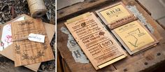 "Invitación ""Madera"" Drinks, Food, Wedding Invitations, Wood, Drinking, Beverages, Essen, Drink, Meals"