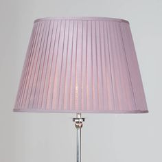 Round Easy to Fit Knife Pleated Shade 20 Inch Lavender from Litecraft Floor Lamp Shades, Lavender Fields, Bright Purple, Fabric Shades, Timeless Elegance, Coastal, Decorating Ideas, Ceiling Lights, Bedroom