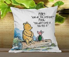 "Winnie the pooh quote - for Pillow cover 16"" x 16"" {twoside} 