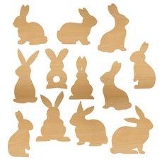 Scrapbook laser cut chipboard paper crafts wood veneer12 laser cut and engraved wood veneer bunnies.about 1