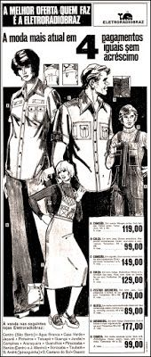 Anúncio Eletroradiobraz - 1976