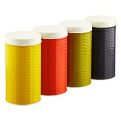 Orla Kiely Embossed Stems Round Canister / containerstore.com