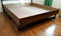 You can build a bed frame that also saves you money. And we have a bunch of DIY bed frame tutorials to prove it. # king size bed frame diy plans do it yourself 18 Gorgeous DIY Bed Frames Modern Bunk Beds, Metal Bunk Beds, Modern King Bed Frame, Murphy Bed Ikea, Murphy Bed Plans, Diy Wall Decor, Diy Home Decor, Wall Decorations, Diy Bett