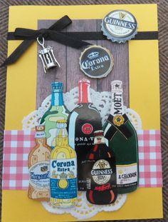 Beer and drinks scrapcard - bier en drank kaart