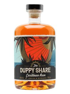 The Duppy Share Rum is a blend of three-year-old Jamaican rum and five-year-old Bajan rum, which is aged in ex-bourbon barrels. A tasty mix of tropical fruit and subtle oak flavours.
