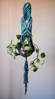 love the color of this hanging planter!