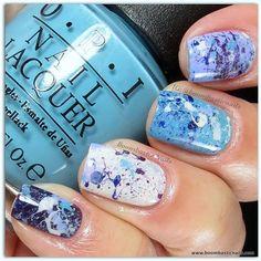 Boombastic nails - splatter