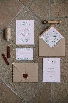 Foglie d'ulivo per un matrimonio organico | Wedding Wonderland
