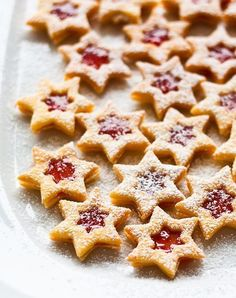 """Star christmas cookies with shortcrust and currant jelly calles """"Spitzbuben"""" (in German)Star christmas cookies with shortcrust and currant jelly calles """"Spitzbuben"""" (in German) Food Cakes, Christmas Baking, Christmas Cookies, Merry Christmas, Christmas Recipes, Easy Cookie Recipes, Cake Recipes, Currant Jelly, Macaroon Cake"""