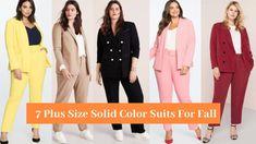 7 Plus Size Suits For Fall Plus Size Suits, 7 Plus, Duster Coat, Fall, Jackets, Clothes, Color, Fashion, Autumn