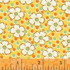 Floursack - cornflower on yellow