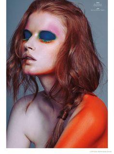 @helenehammer_ - Paint by Numbers - L'Officiel Singapore November 2014 Fernando Gomez @fergomros via @lofficiel_sg for #color #makeup #motion