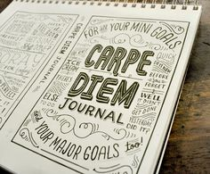love seeing this cover sketch of our Carpe Diem Journal, by the lovely and talented Mary Kate McDevitt!