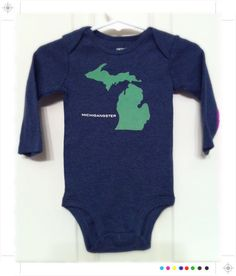 """Carter's Long Sleeve """"MichiGANGSTER"""" Bodysuit 6 Months by BCheniful, $15.00"""