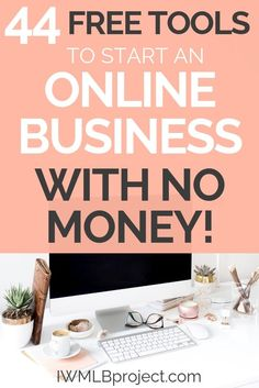 44 free tools to start an online business with no money. Want to start a business but don't have a lot of money to spend? No problem! There are loads of free business tools for when you are starting out! small business Tips Make Money Blogging, Make Money From Home, Make Money Online, How To Make Money, Money Tips, Affiliate Marketing, Online Marketing, Digital Marketing, Internet Marketing
