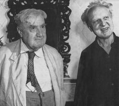 British composer Ralph Vaughan Willams with conductor Leopold Stokowski.