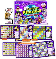Spin and solve your way to mastering alternative spellings. This set of 6 Synthetic Phonics Board Games for Phase 5 of Letters and Sounds are ideal for sound group work to practise the skills of blending, segmenting and decoding. Children love to be Letter Sound Detectives learning Phase 5 GPCs and practising consonant and vowel alternatives, long vowel and short and r-controlled vowels spellings with these motivating games. Visit www.smartkids.co.uk for more information.