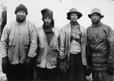 Herbert Pointing (1870-1935) F Debenham, T G Taylor, T Gran and Forde, from the Scott South Polar expedition, Antarctica, 1911