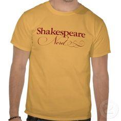 Nerd de Shakespeare Tshirt