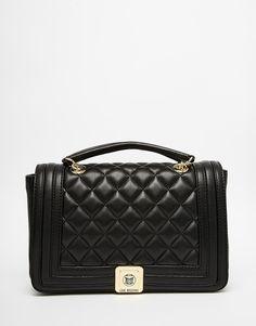Image 1 - Love Moschino - Sac porté épaule matelassé avec bandoulière chaîne - Noir