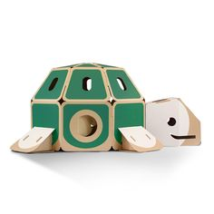 Forget about plastic! Meet the friendly animal-shaped playhouses from HULKI. Ingenious design, super strong, and 100% environmental friendly!HULKIs are seriously large toys to hide in, run around and play inside.