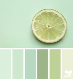 Kitchen colors green paint colours design seeds New Ideas Aqua Color Palette, Green Paint Colors, Room Paint Colors, Green Pallete, Monochromatic Color Scheme, Design Seeds, Deco Nature, Color Swatches, Colour Schemes