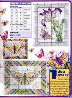 Schema punto croce Farfalle 14