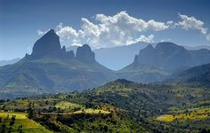 Ethiopia. Simien Mountains National Park, Unesco World Heritage Site