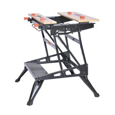 These sturdy, portable work supports add versatility and convenience in the workshop and on the jobsite. Portable Workbench, Folding Workbench, Best Portable Projector, Canadian Woodworking, Steel Frame Construction, Look Good Feel Good, Woodworking Magazine, Diy Tools, Drafting Desk
