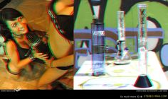 Gravity Vortex gravity bong in anaglyph 3D. Sexy  picture by Vortex babes