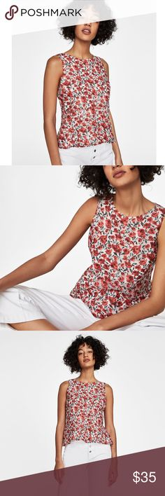 5e60012561b3 NWT Zara Sheer Floral Lace Top - M Gorgeous floral top from Zara! Features a