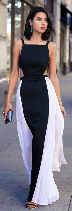 Gorgeous Sleeveless Side Pleated Maxi Dress