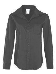 Alex Silky Poplin Black Poplin, Usa, Blouse, My Style, Long Sleeve, Cotton, How To Make, Shirts, Black