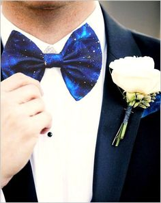 Dress up your groomsmen in cosmic bow ties.