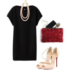 A fashion look from February 2014 featuring uniqlo dress, high heel pumps and red clutches. Browse and shop related looks. High Heel Pumps, Pumps Heels, Day Date Outfits, Valentines Day Date, Red Clutch, Cool Style, My Style, Heavens, Night Out
