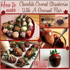 """""""How to Make: Chocolate Covered Strawberries With A Gourmet Flair.♥"""" by fabulous-tipsters on Polyvore"""