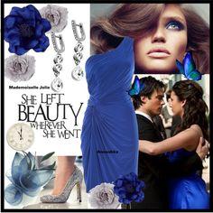DARK BLUE EVENING My dream comes true in silver and blue tones.