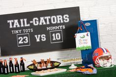 Tailgating-style birthday party - Florida Gators