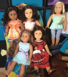 Annabel, Ivy Ruthie ( to be renamed), Caitlin, Kanani, and Jess.