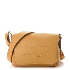 40995793a BURBERRY Signature Grain Small Burleigh Crossbody Bag Ochre Yellow 258519  Saddle Bags, Grains, Burberry