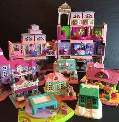 Bluebird Polly Pocket Lot Dream Builder Mansion Cafe Pizza Ranch Pet Cottage    eBay