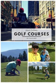 Where To Play Golf With Kids in Calgary Alberta Travel, Kids Ride On, Putt Putt, Play Golf, Calgary, Friends Family, Golf Courses, Dads, Baseball Cards