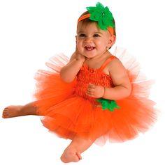 Baby Pumpkin Tutu Dress Costume...I think I can make this.