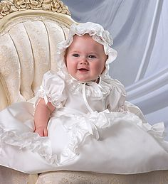 Stunning Christening Dress and Bonnet from Sarah Louise at Little Whispers