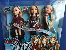 "MGA BRATZ Triiiplets Triplets 10"" Doll Set NRFB Valentina Oriana Siernna Sealed"