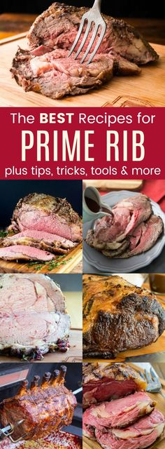 The Best Prime Rib Recipes - learn how to make prime rib for Christmas, New Year's Eve, or any special occasion. Plus tips, tricks, and tools for the perfect beef roast for the holidays starting with outfits The Best Prime Rib Recipes Rib Roast Recipe, Roast Recipes, Cooking Recipes, Healthy Recipes, Healthy Meals, Game Recipes, Prim Rib Recipes, Recipies, Cooking Beef